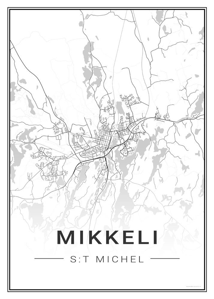 Mikkeli Kartta Juliste N02 Julisteet Ja Printit Artiksdesign Fi