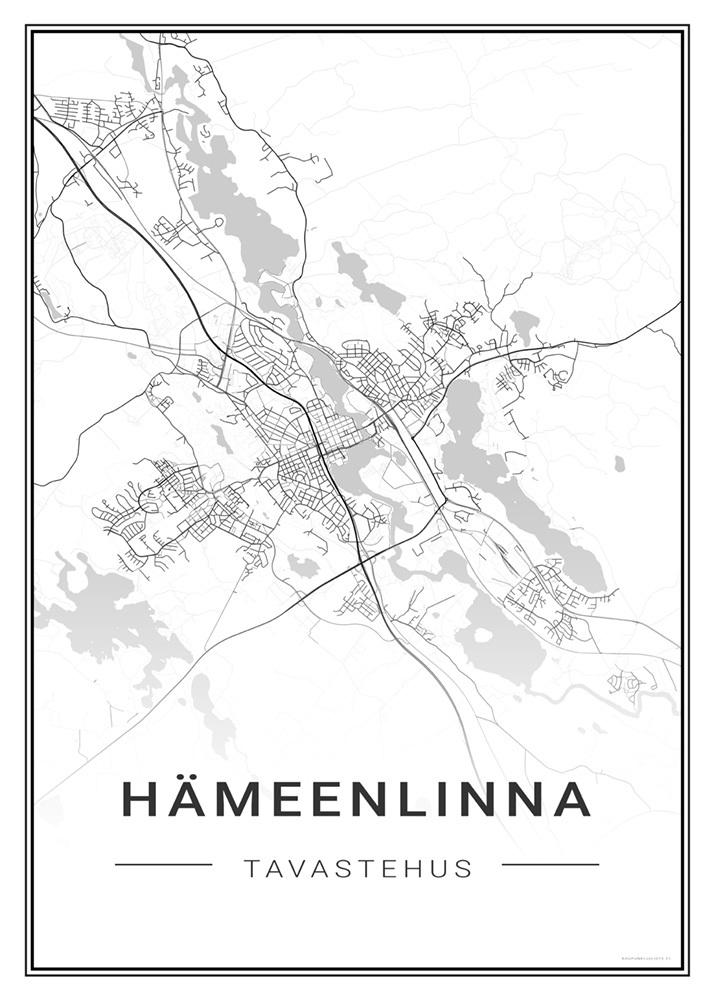 Hameenlinna Kaupunkijuliste Fi